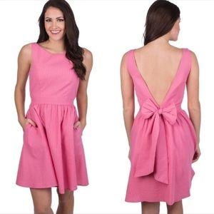 Lauren James Rose Pink Emerson Dress Bow Open Back